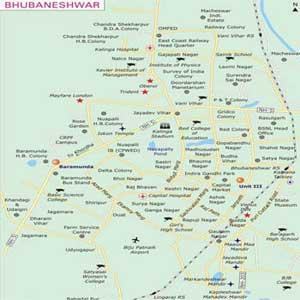 Map-Bhubaneswar